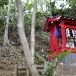町を見守る、小さな神社。