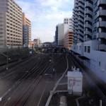 花澤橋から見える国分寺を結ぶ二つの路線