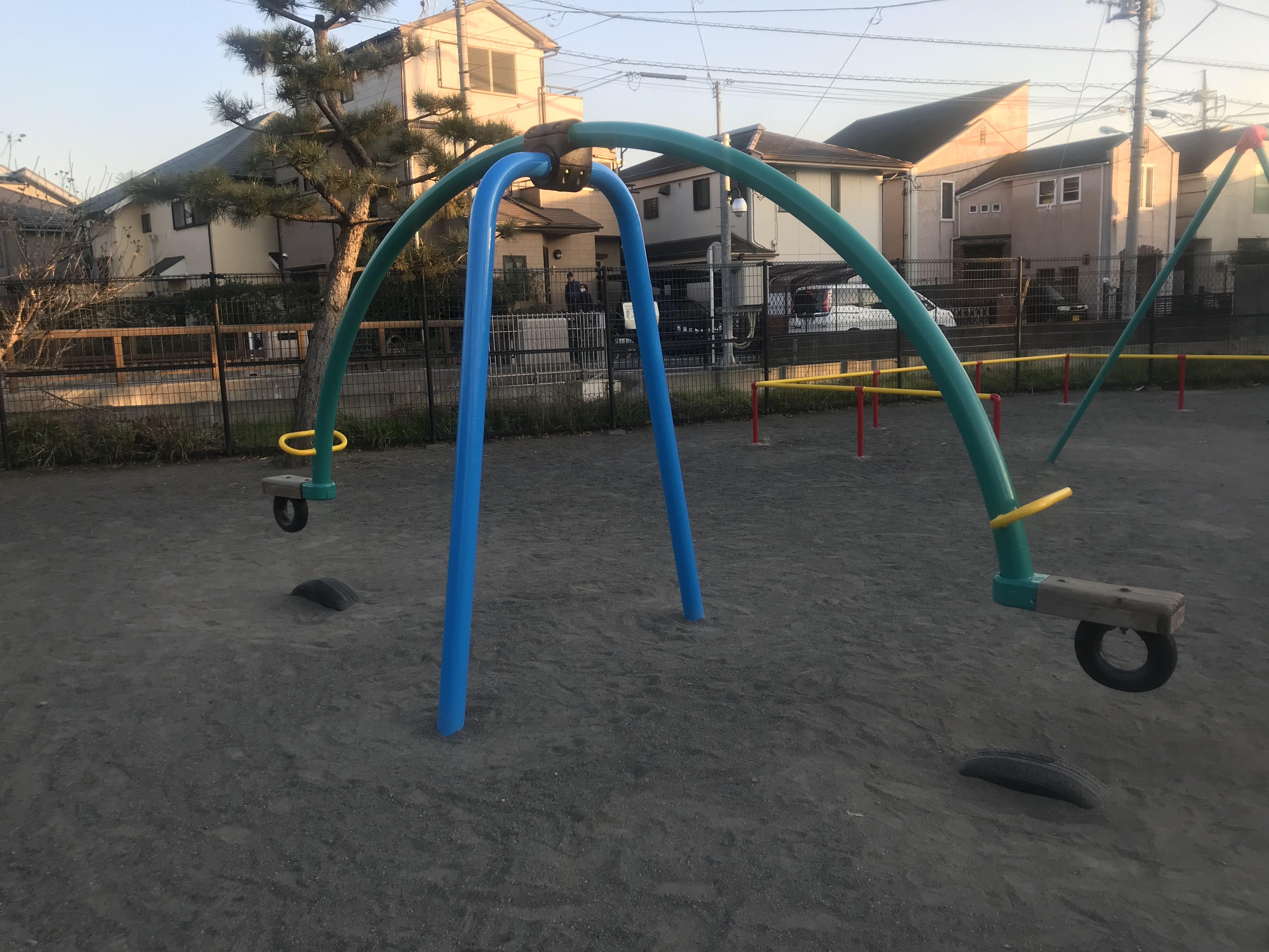 広々とした公園で
